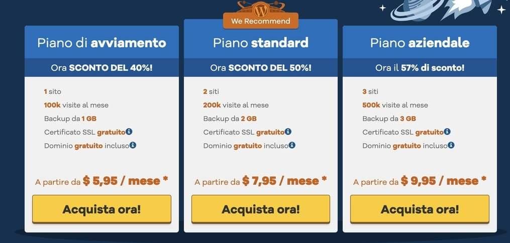 hostgator migliori hosting wordpress economici