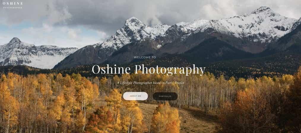 oshine migliori temi wordpress per fotografi