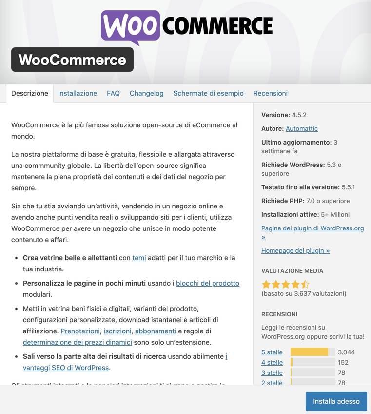 creare un sito ecommerce con wordpress