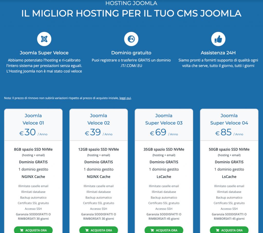 hosting siti web