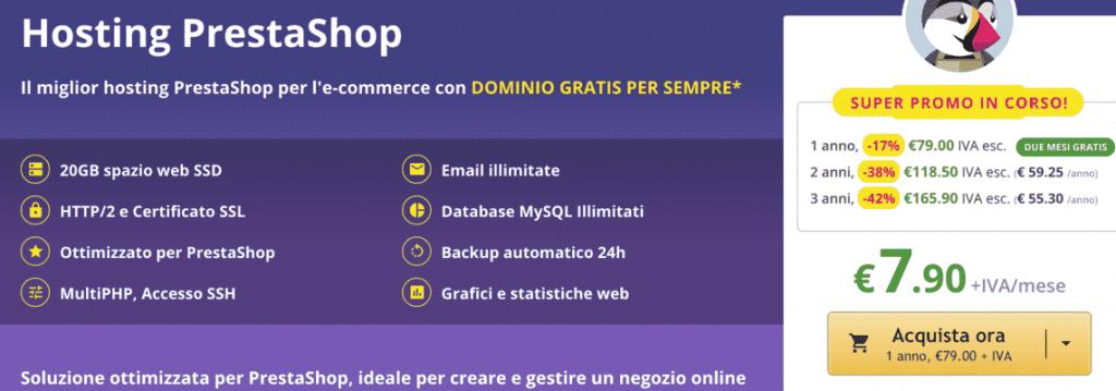 keliweb migliori hosting prestashop