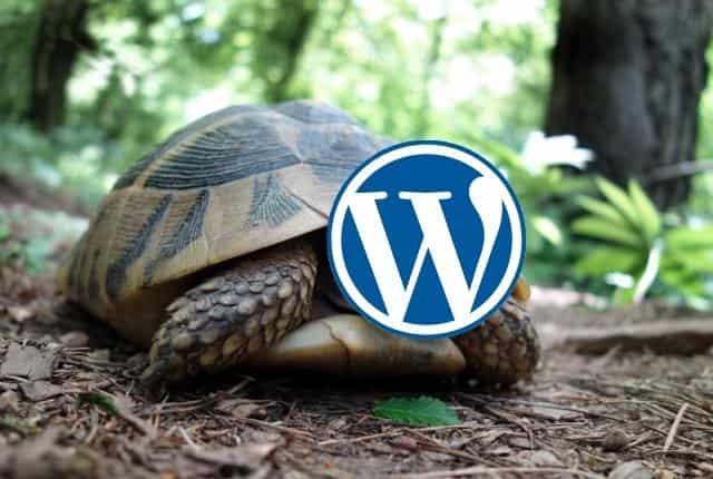 wordpress admin lento